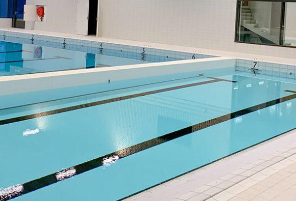 Urozmaicony projekt basenu w Mol (Belgia)
